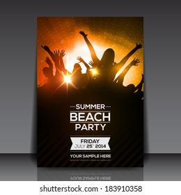 Summer Beach Party Flyer - Vector Design