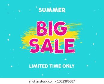 summer big sale. modern banner poster. vector design.
