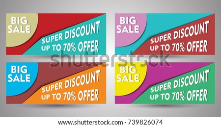 d26356622b Summer Big Sale Vector Banner Collection Stock Vector (Royalty Free ...