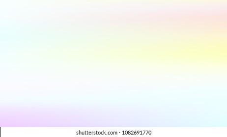 Summer blue holographic background. Vibrant blur iridescent design. Foil neon trendy sky banner. Pastel future element. Modern gradient cover. Foil holographic sunset design Bright soft gradient color