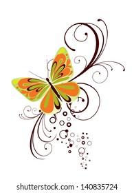 Summer butterfly - vector