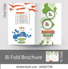 Summer Camp Bi-Fold Mock up & Brochure Design