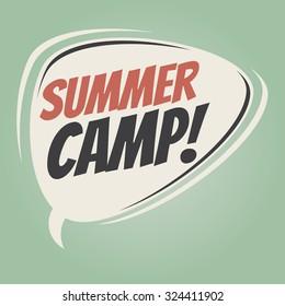summer camp retro speech bubble