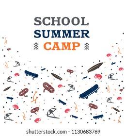 Summer camp vector illustration