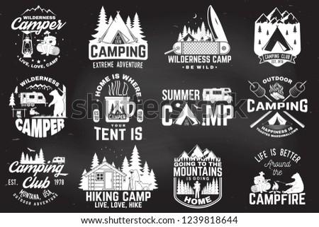c98e6a96dbb4 Summer Camp Vector Illustration Concept Shirt Stock Vector (Royalty ...