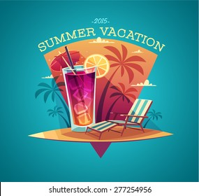 Summer card / poster / template. Vector illustration.