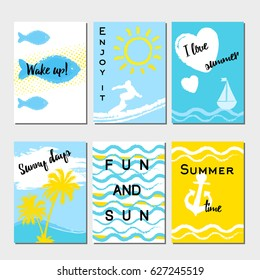 Summer cards and banners collection, graphic and we design