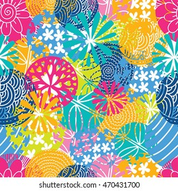 Summer color. Cute seamless pattern.