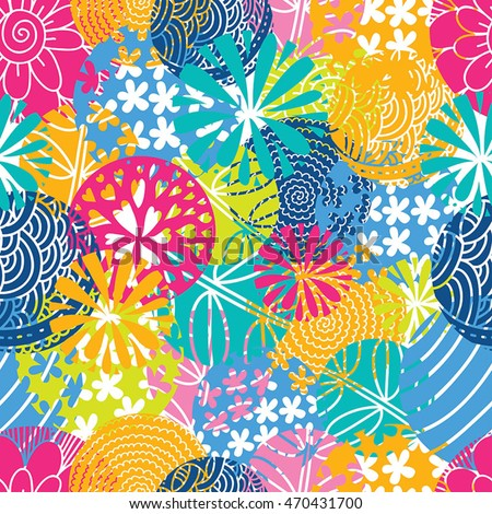 Summer Color Cute Seamless Pattern Stock Vector (Royalty Free ...