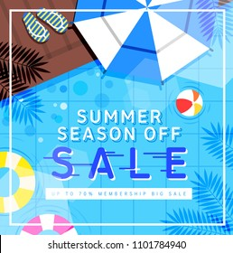 Summer concept shopping event design