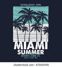 summer concept vector graphic design for tee print