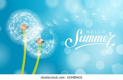 Summer Dandelion Blue