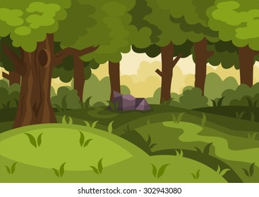 Summer Day Forest Cartoon Vector Background Stock Vector Royalty Free 302943080 Max fbx oth obj 3ds dxf. summer day forest cartoon vector