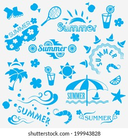 Summer decorative elements