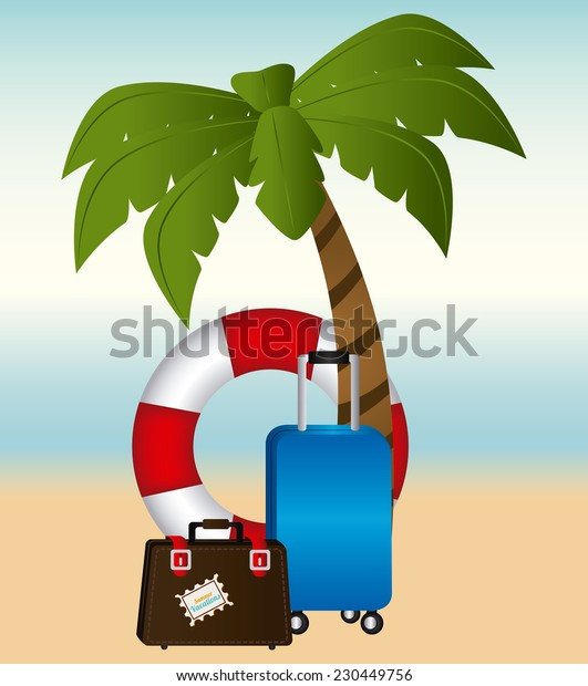 Summer design over beach scape background,vector illustration