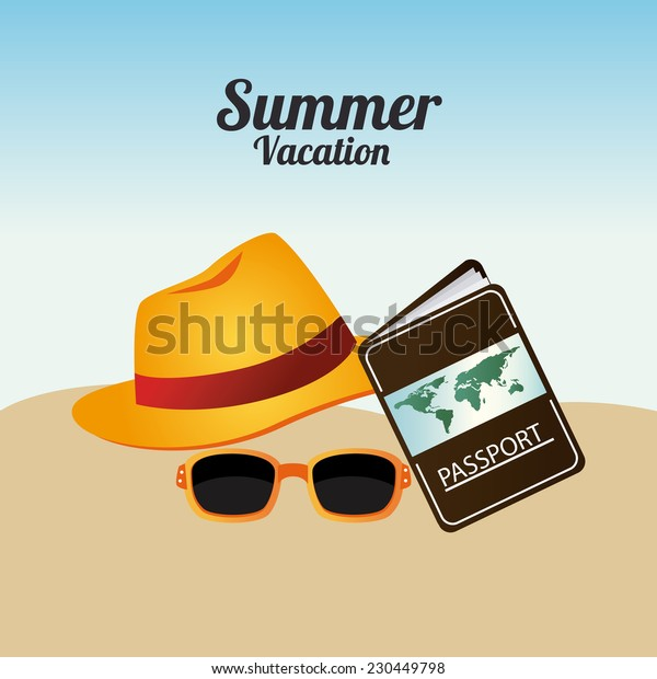 Summer design over beach scape background,vector illustration