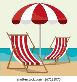 Summer design over beachscape design, vector illustration.