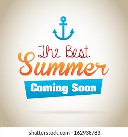 summer design over beige background vector illustration