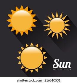 Summer design over black background, vector illustration