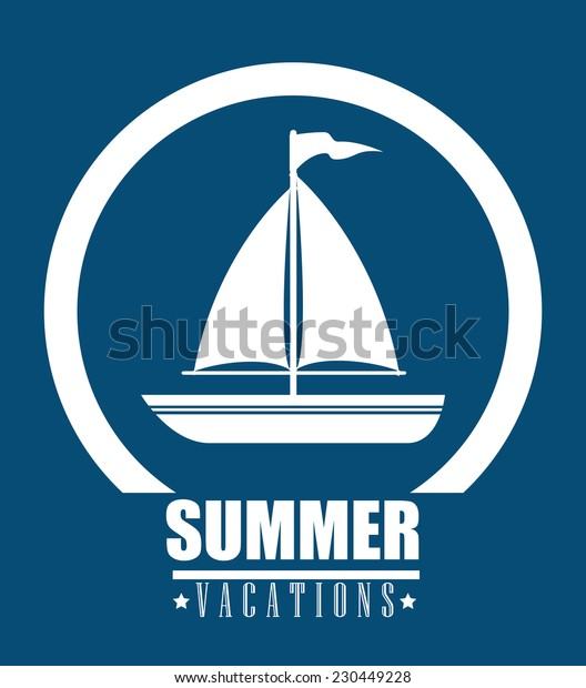 Summer design over blue background,vector illustration