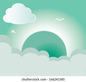 summer design over sky background vector illustration