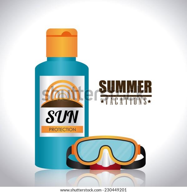 Summer design over white background,vector illustration