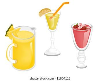 Summer Drinks - Vector
