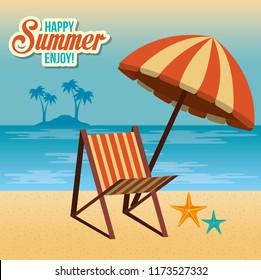 summer enjoy with beach chair