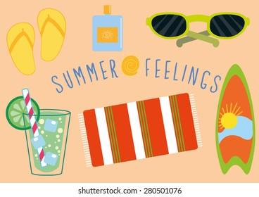 Summer Feelings Vector