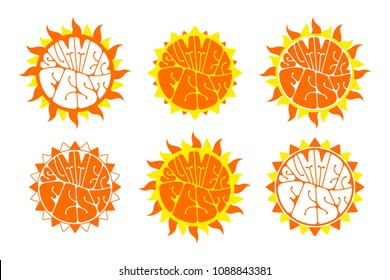 Summer festival logo set. Hand-sketched lettering isolated on white background. Retro style vector design.