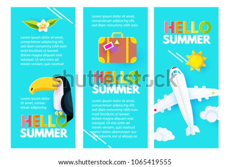 summer flyers layout design template set stock vector royalty free