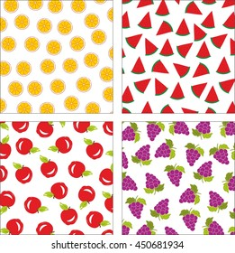 Summer fruit patterns