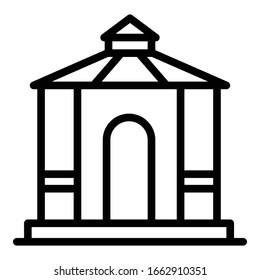 Summer gazebo icon. Outline summer gazebo vector icon for web design isolated on white background