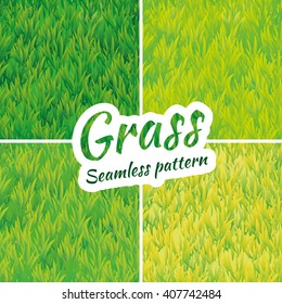 Summer green grass texture. Seamless pattern background. Vector for banner design, web, card, spring, sale, logo, web, card, vip exclusive certificate gift luxury voucher welcome