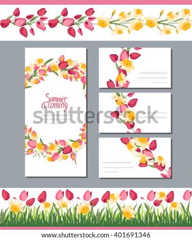 Summer Greeting Card Phrase Summer Coming Stock Vector Royalty Free