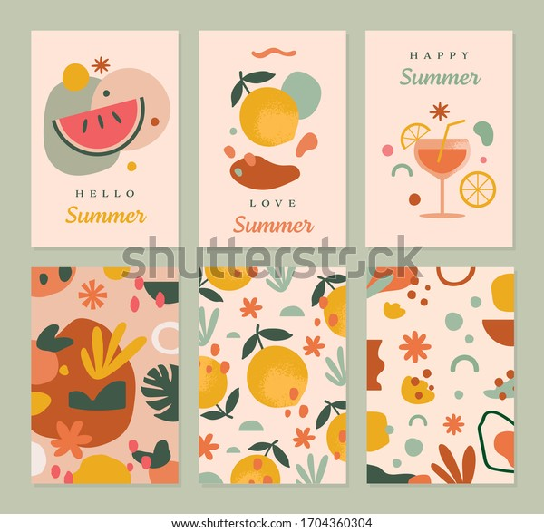Summer Greeting Cards Template in Vector for social media, postcard, promotional items, thank you invite and more.