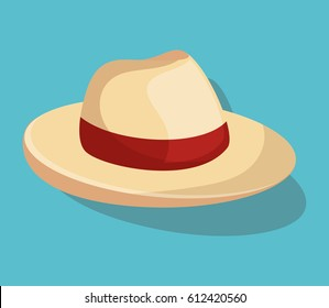 summer hat fashion isolated icon