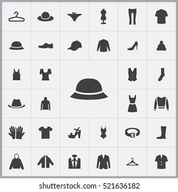 summer hat icon. clothes icons universal set for web and mobile