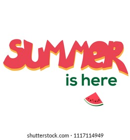 Summer is here vector watermelon illustraction