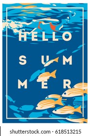 Summer Holiday and Summer Camp poster.