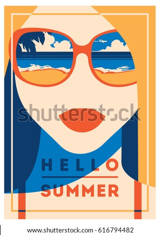 c8d739269a0 Summer Holiday Summer Camp Poster Stock Vector (Royalty Free ...