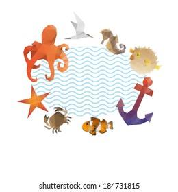 Summer holidays background, vector illustration