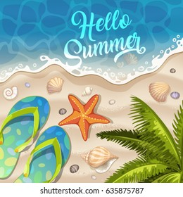 Summer Holidays in Beach Seashore.