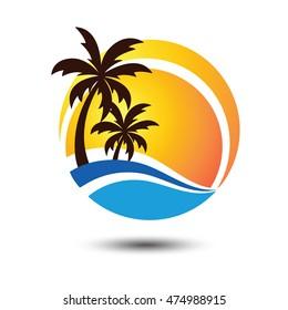 Summer holidays design Labels, Badges,emblem,vector illustration