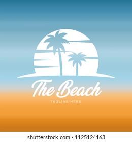 Summer holidays design Labels, summer beach symbol, Badges,emblem,vector illustration