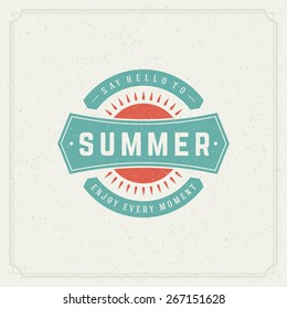 Summer holidays typography poster, greeting card or other design vector background.