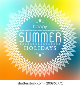 Summer holidays typography poster vector background