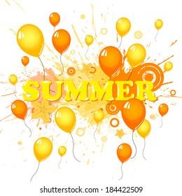 Summer holidays - vector