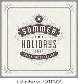 Summer holidays vector background. Summer message for your design vector illustration.