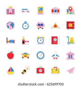 Summer and Holidays Vector Icons 7